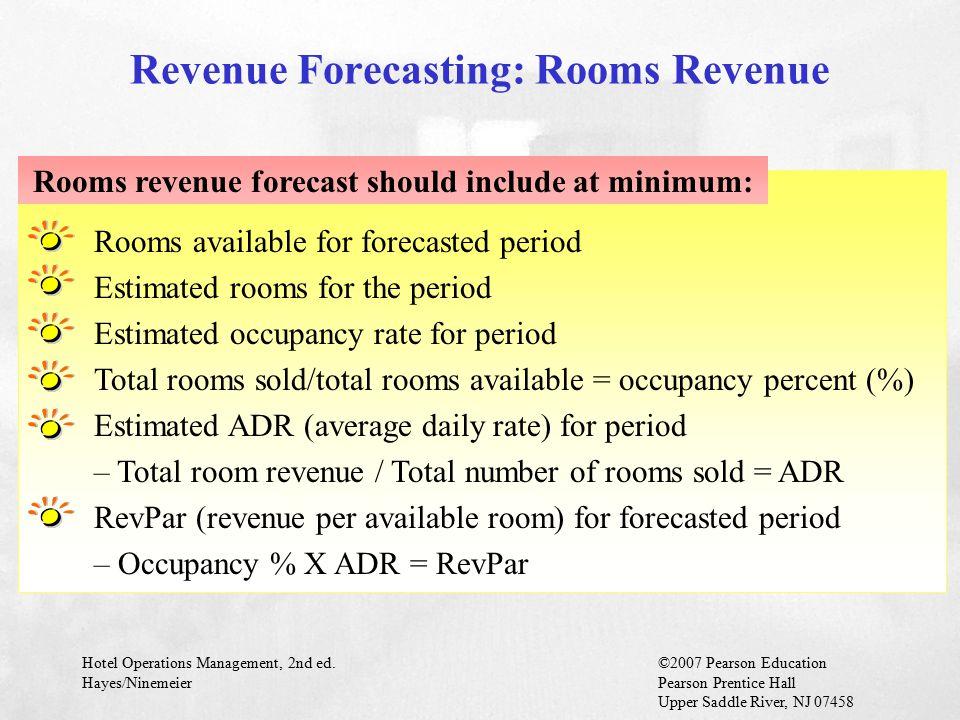Revenue Forecasting: Rooms Revenue
