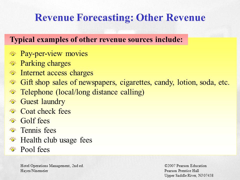 Revenue Forecasting: Other Revenue