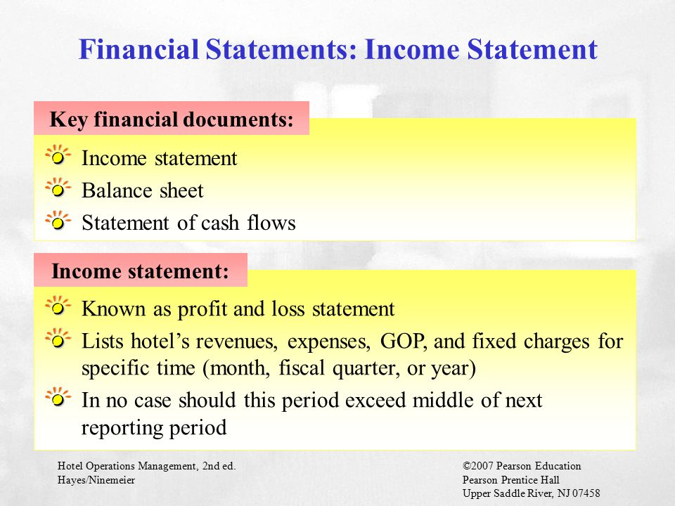 Financial Statements: Income Statement