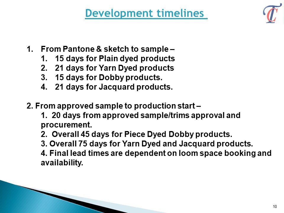Development timelines
