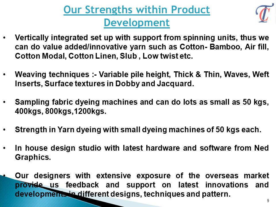 Our Strengths within Product
