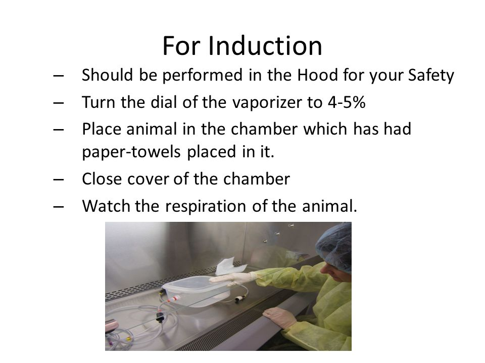 For Induction Should be performed in the Hood for your Safety