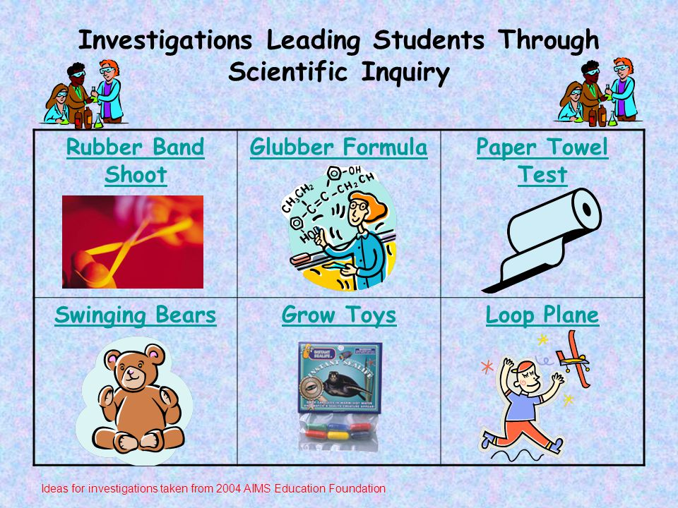 Investigations Leading Students Through Scientific Inquiry