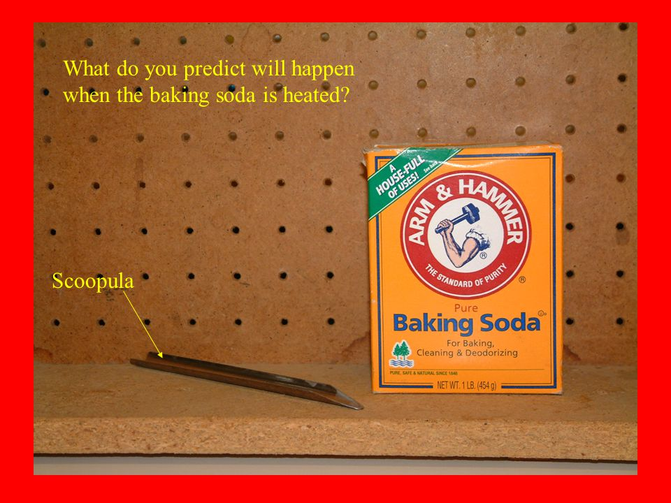 What do you predict will happen when the baking soda is heated