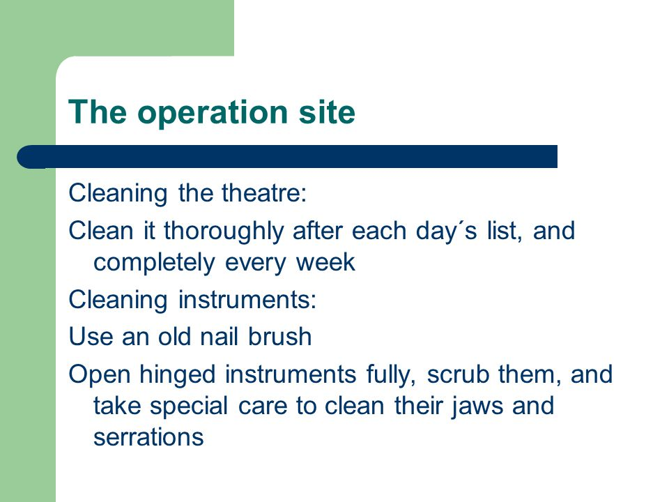 The operation site
