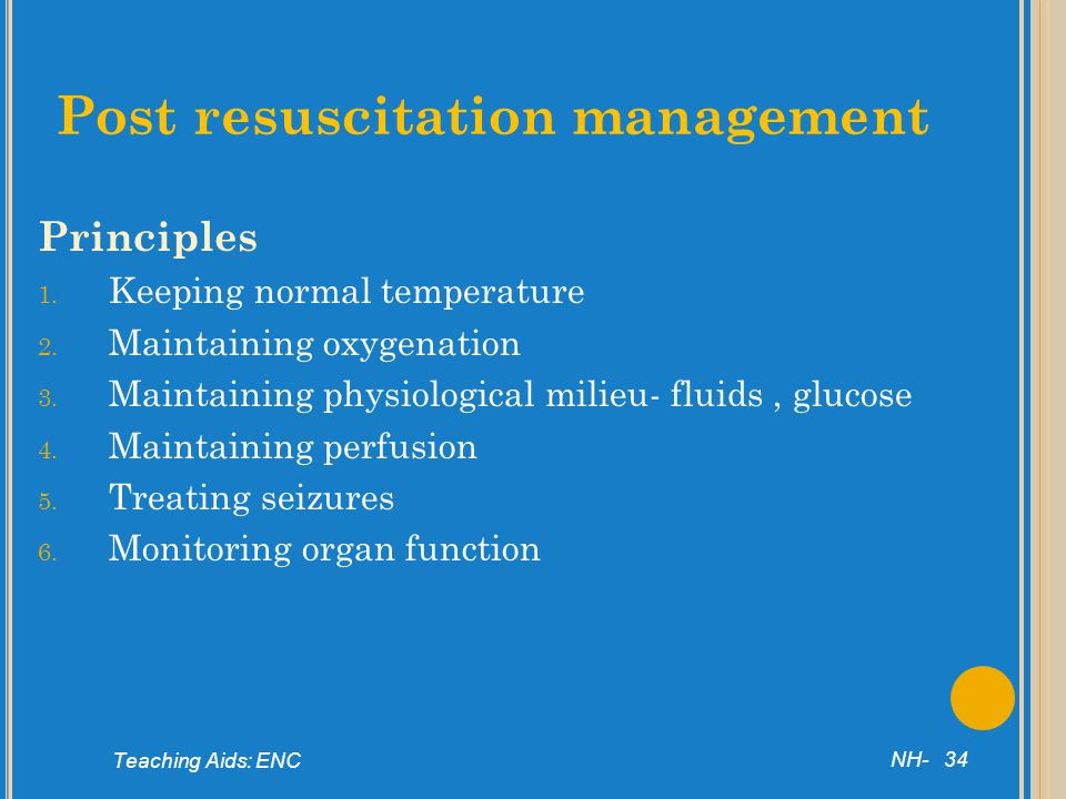 Post resuscitation management