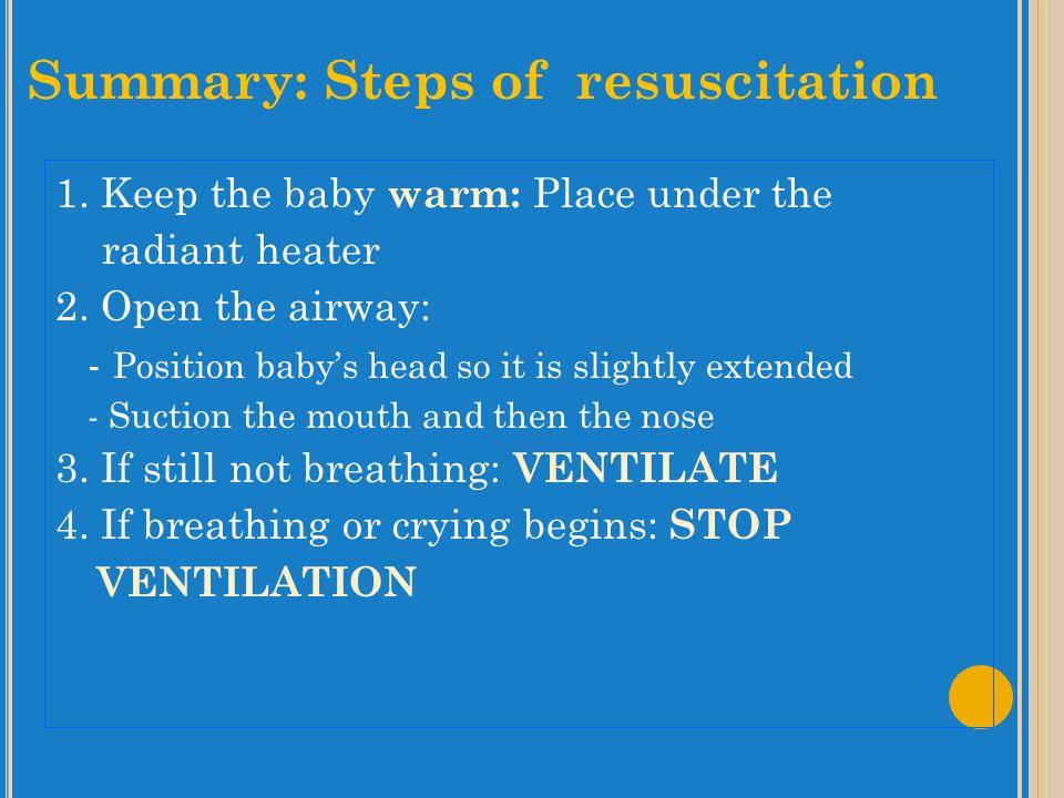Summary: Steps of resuscitation