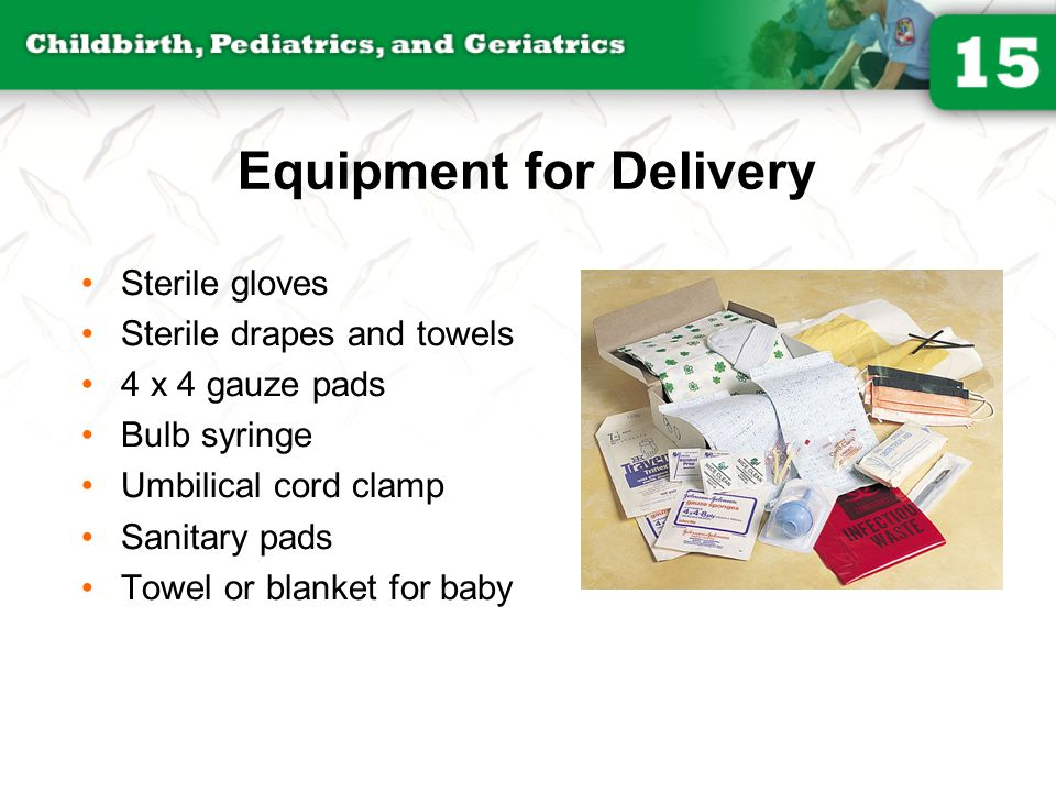 Equipment for Delivery