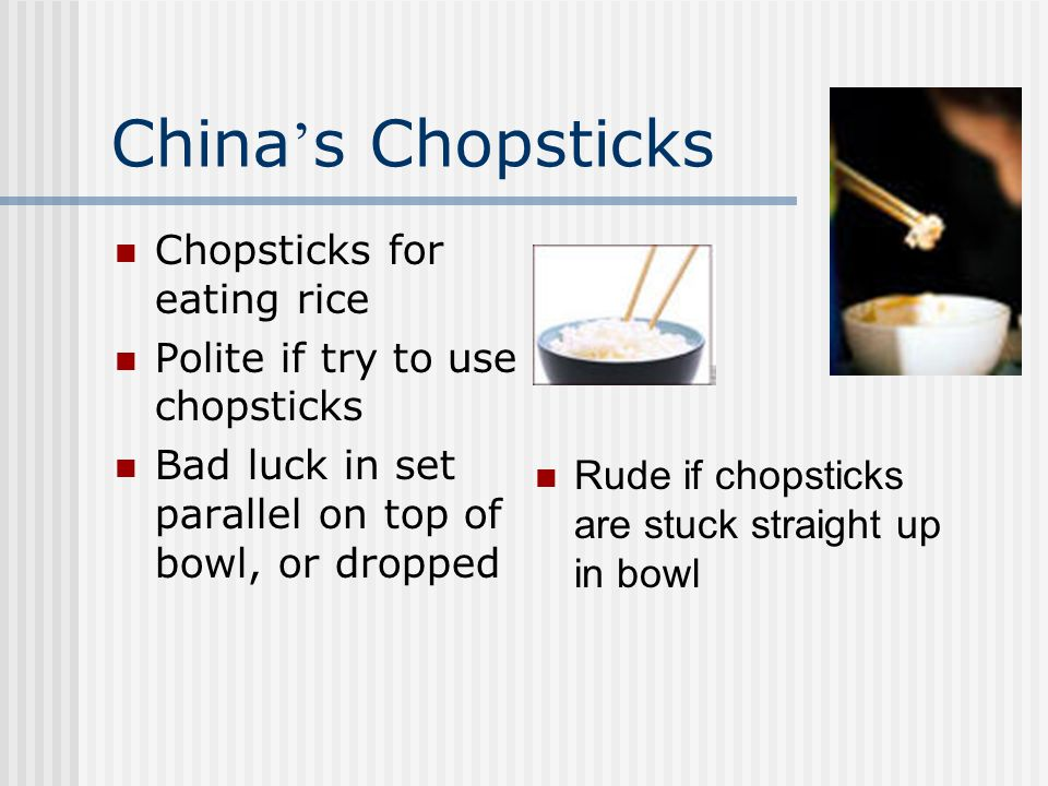 China's Chopsticks Chopsticks for eating rice