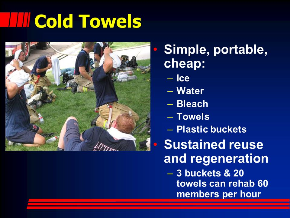 Cold Towels Simple, portable, cheap: Sustained reuse and regeneration