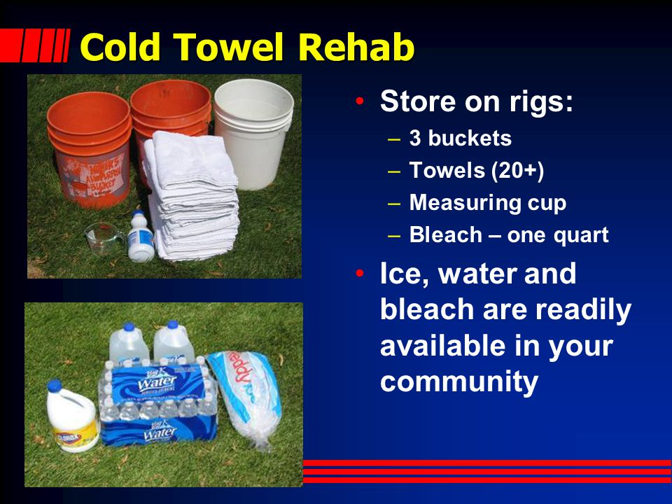 Cold Towel Rehab Store on rigs: