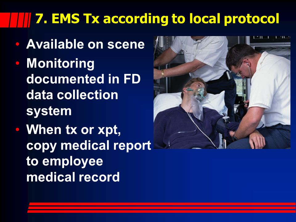 7. EMS Tx according to local protocol