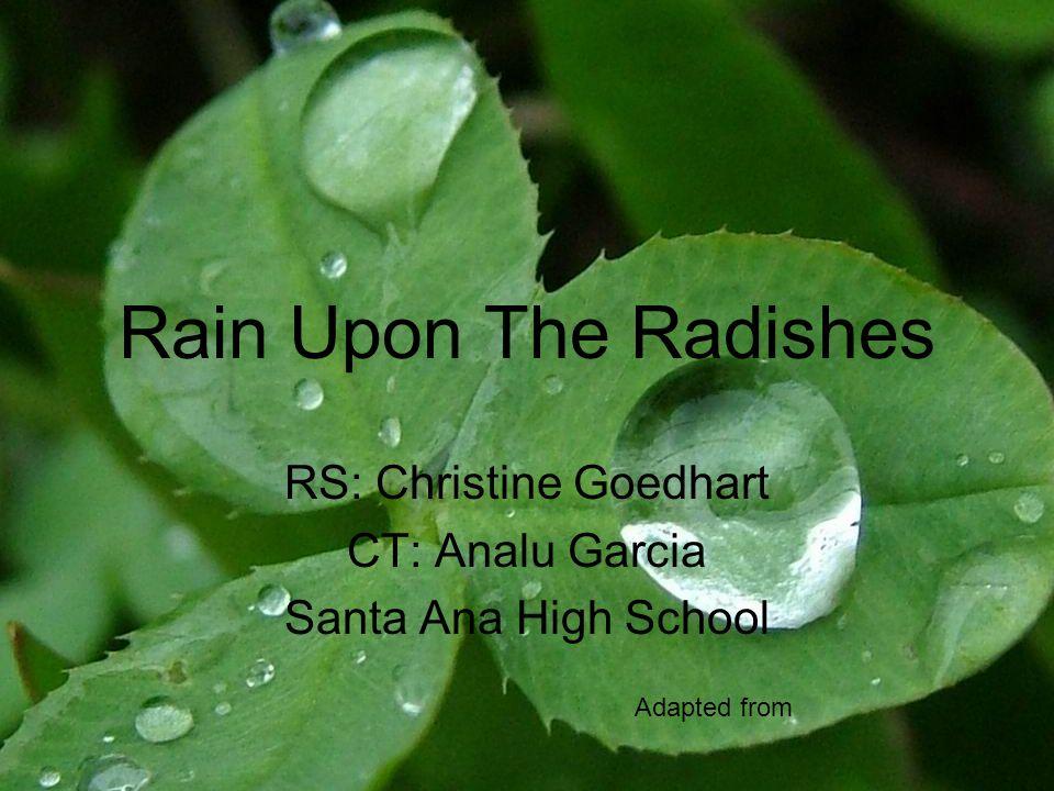 RS: Christine Goedhart CT: Analu Garcia Santa Ana High School