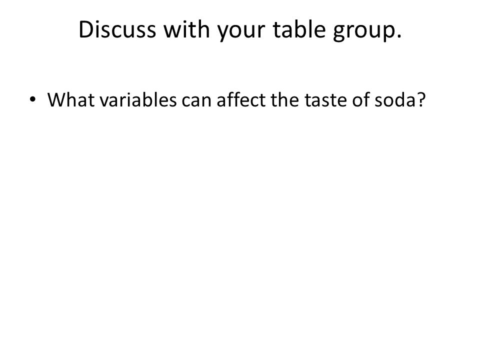 Discuss with your table group.