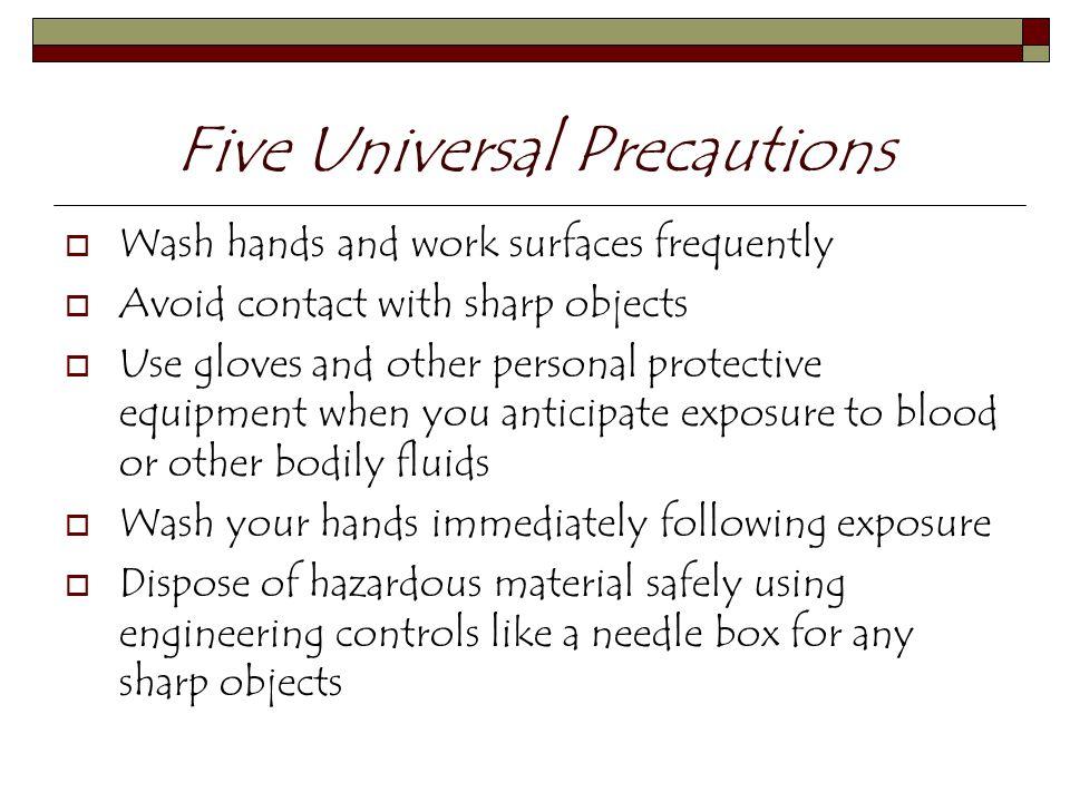 Five Universal Precautions