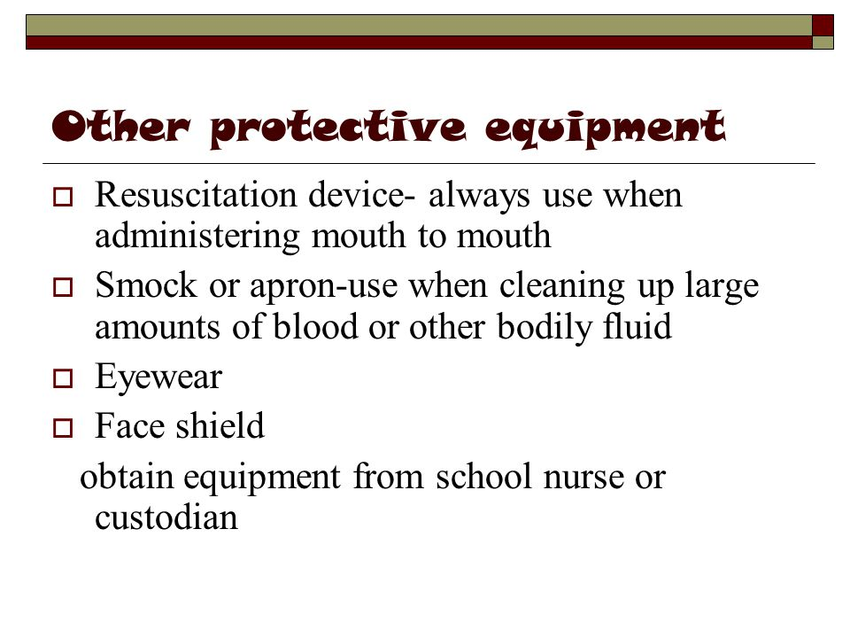 Other protective equipment