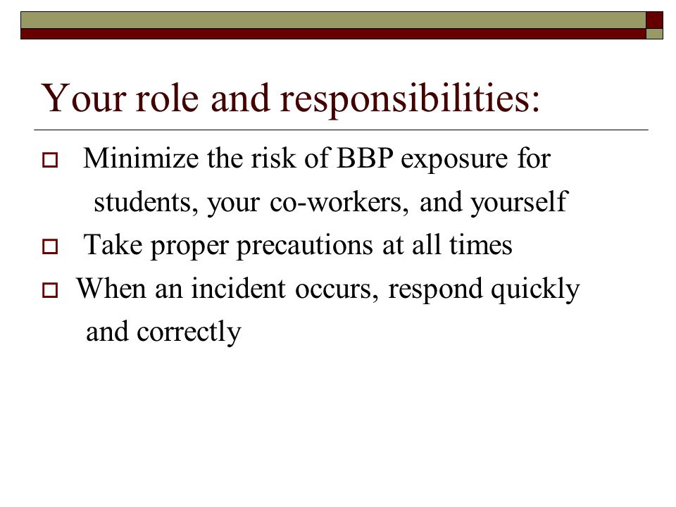 Your role and responsibilities: