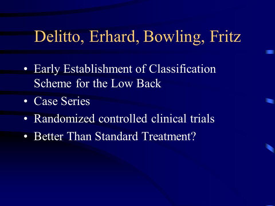 Delitto, Erhard, Bowling, Fritz