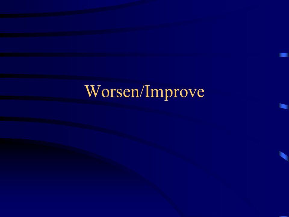 Worsen/Improve