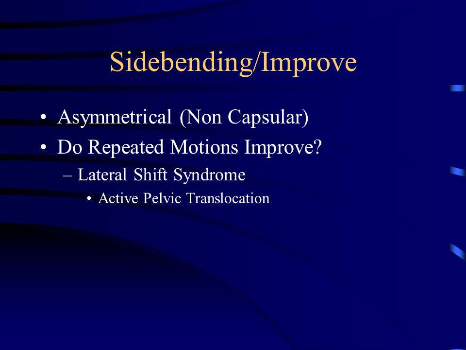 Sidebending/Improve Asymmetrical (Non Capsular)