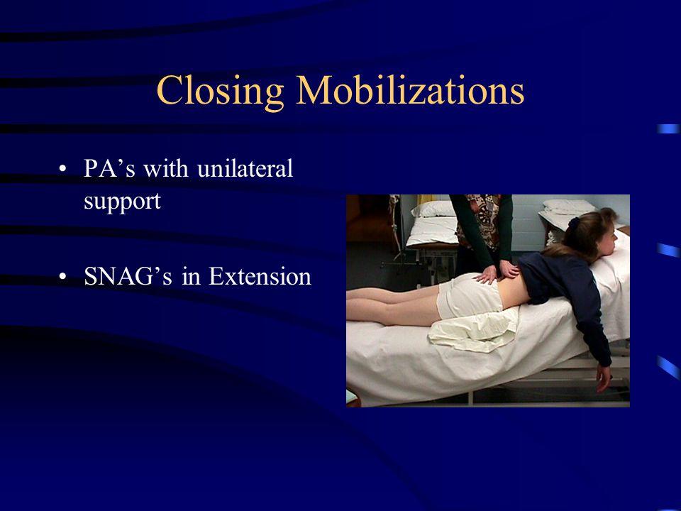 Closing Mobilizations