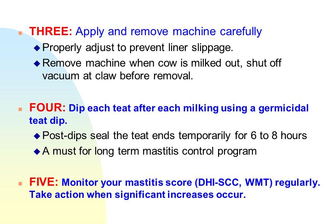 THREE: Apply and remove machine carefully