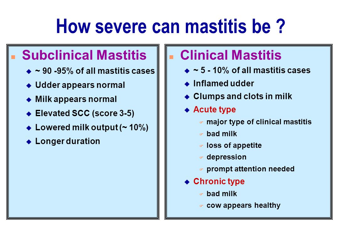 How severe can mastitis be