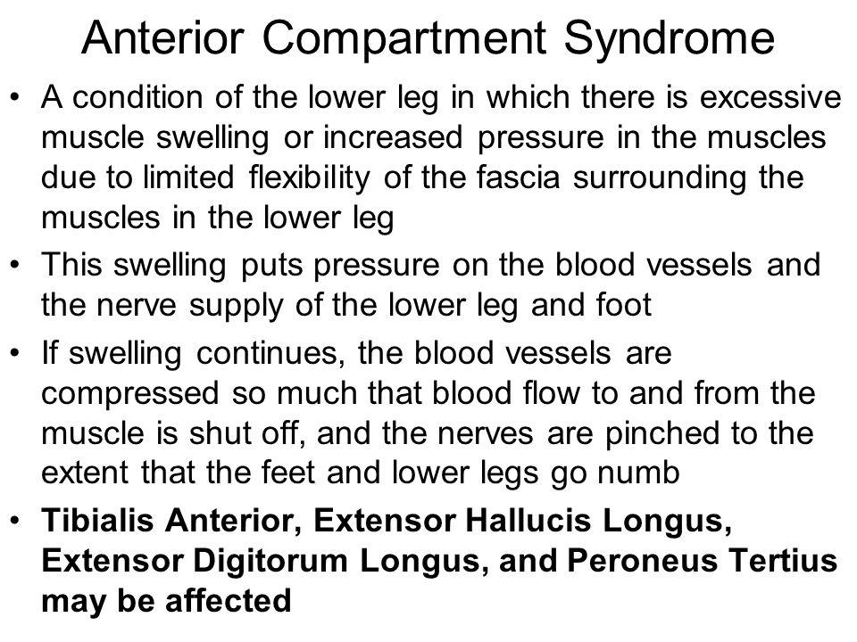 Anterior Compartment Syndrome