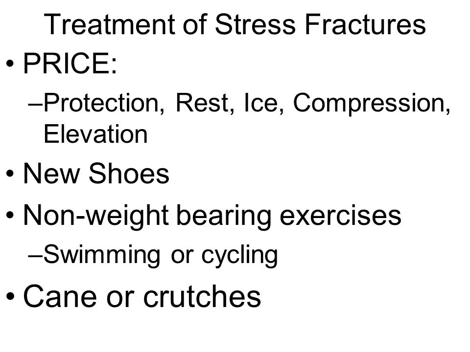 Treatment of Stress Fractures