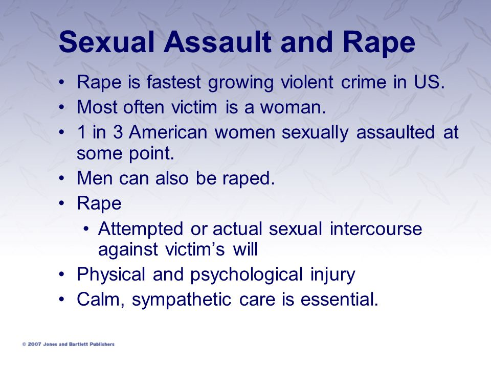 Sexual Assault and Rape