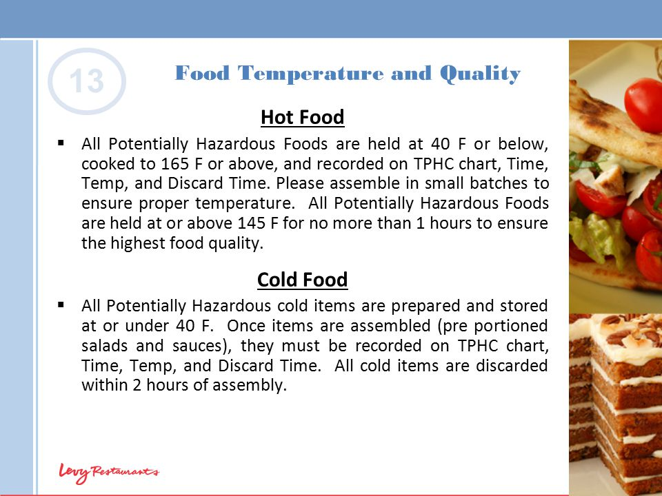Food Temperature and Quality