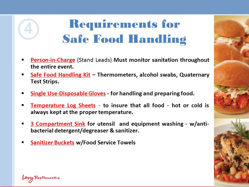 4 Requirements for Safe Food Handling
