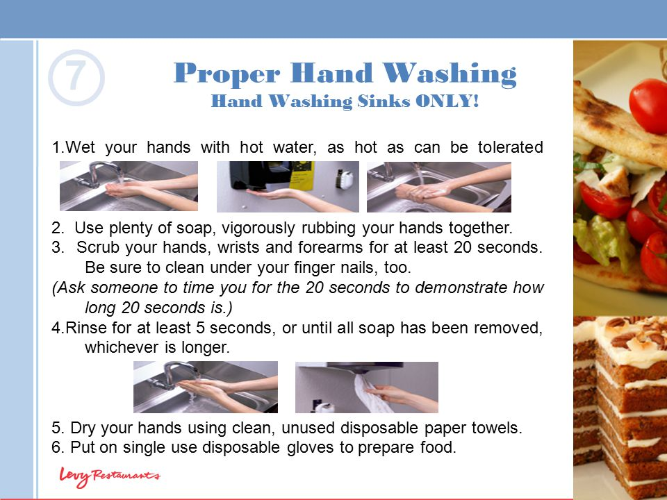 Proper Hand Washing Hand Washing Sinks ONLY!