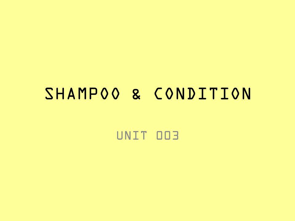SHAMPOO & CONDITION UNIT 003