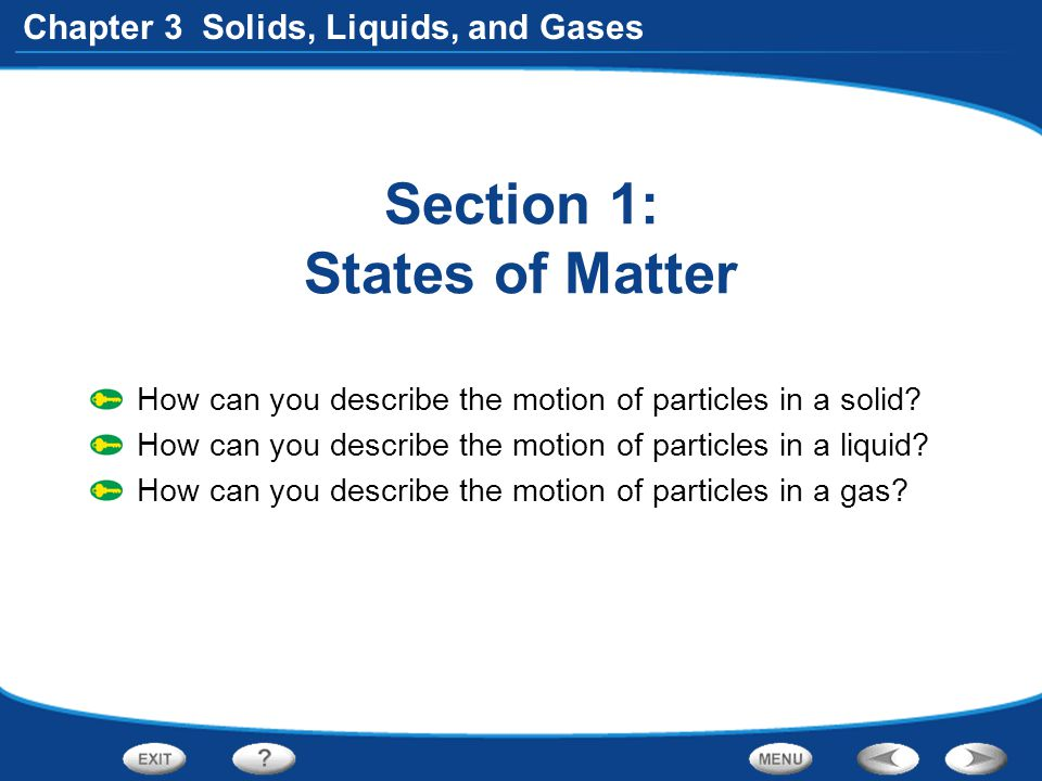 Section 1: States of Matter