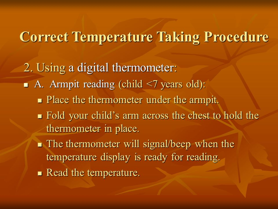 Correct Temperature Taking Procedure