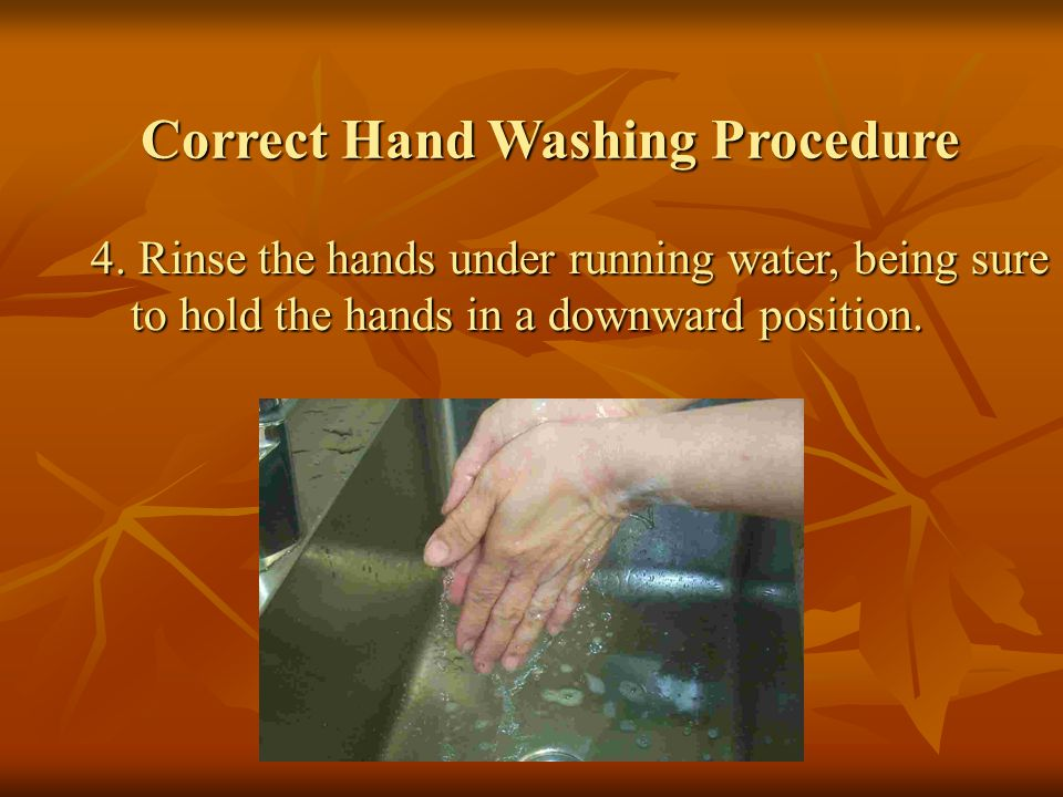 Correct Hand Washing Procedure