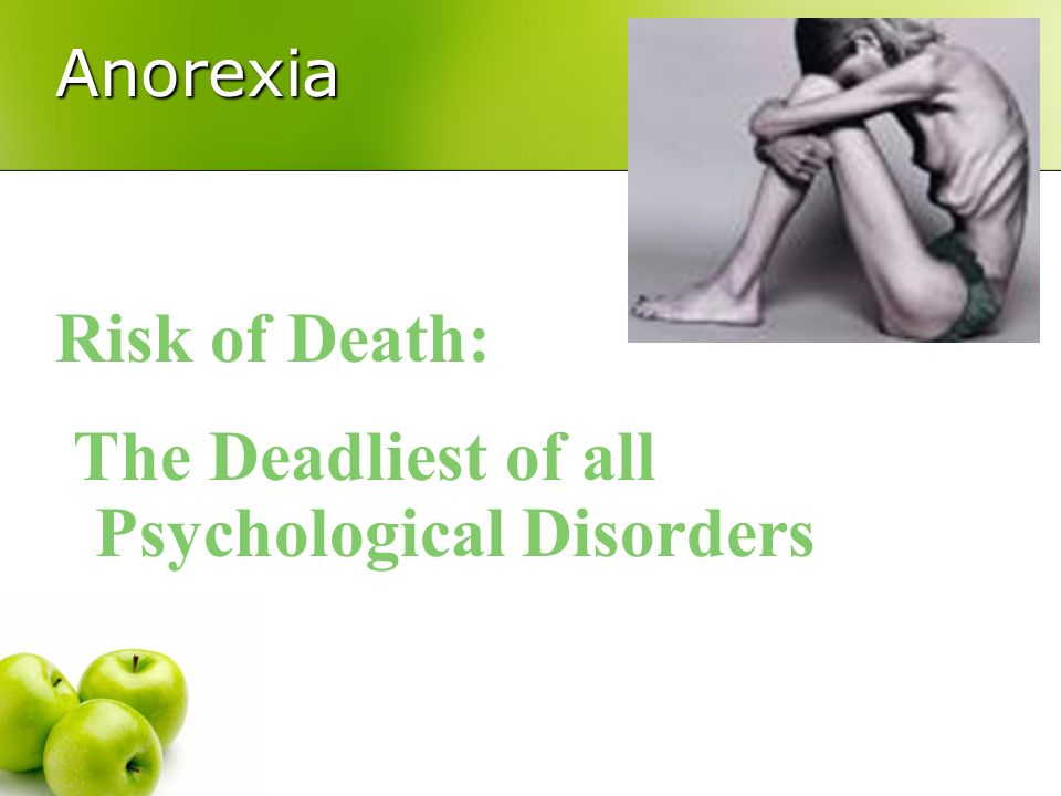 The Deadliest of all Psychological Disorders