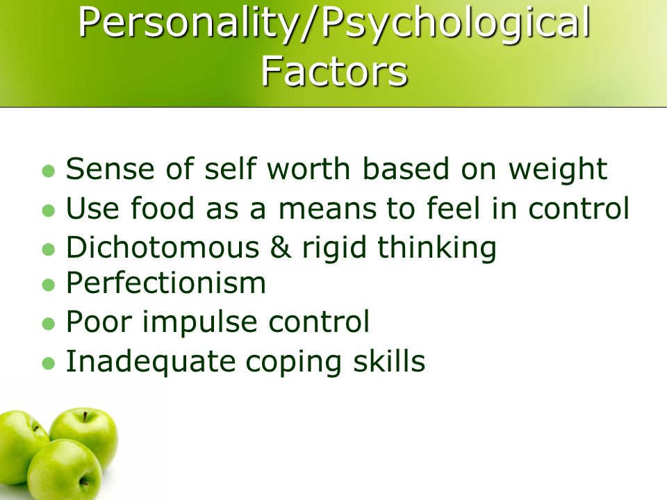 Personality/Psychological Factors