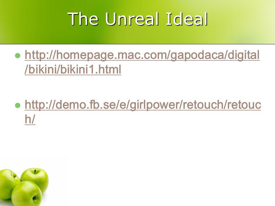 The Unreal Ideal http://homepage.mac.com/gapodaca/digital/bikini/bikini1.html.