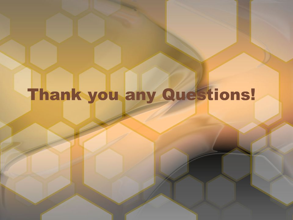 Thank you any Questions!