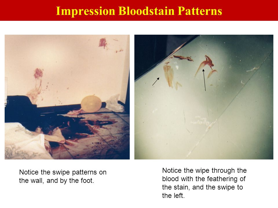 Impression Bloodstain Patterns