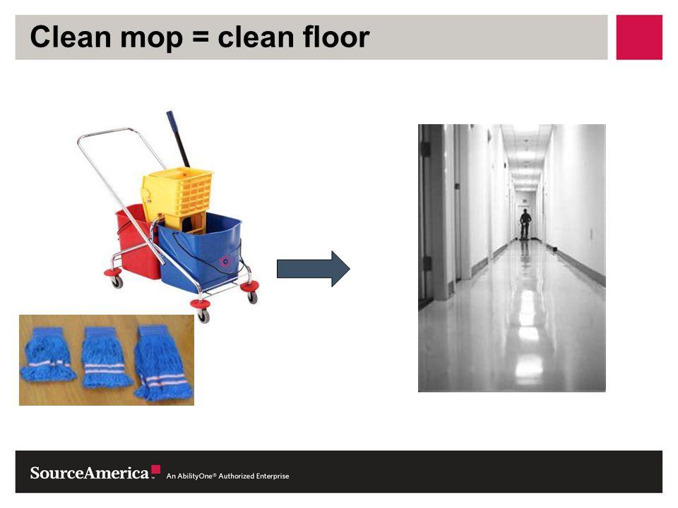 Clean mop = clean floor