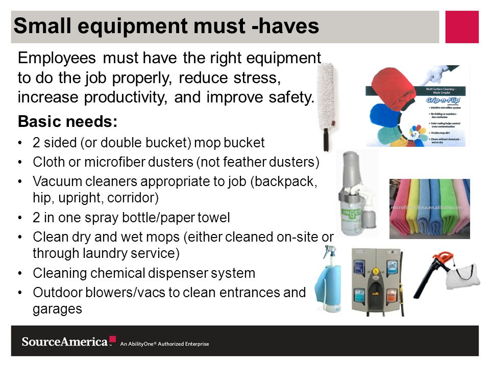 Small equipment must -haves