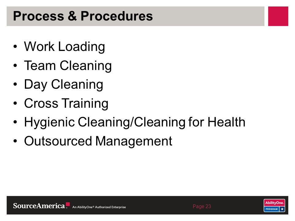 Hygienic Cleaning/Cleaning for Health Outsourced Management
