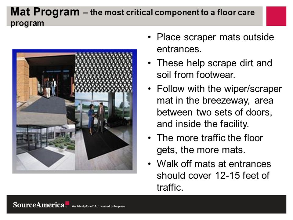 Mat Program – the most critical component to a floor care program