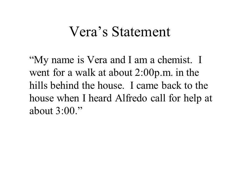 Vera's Statement