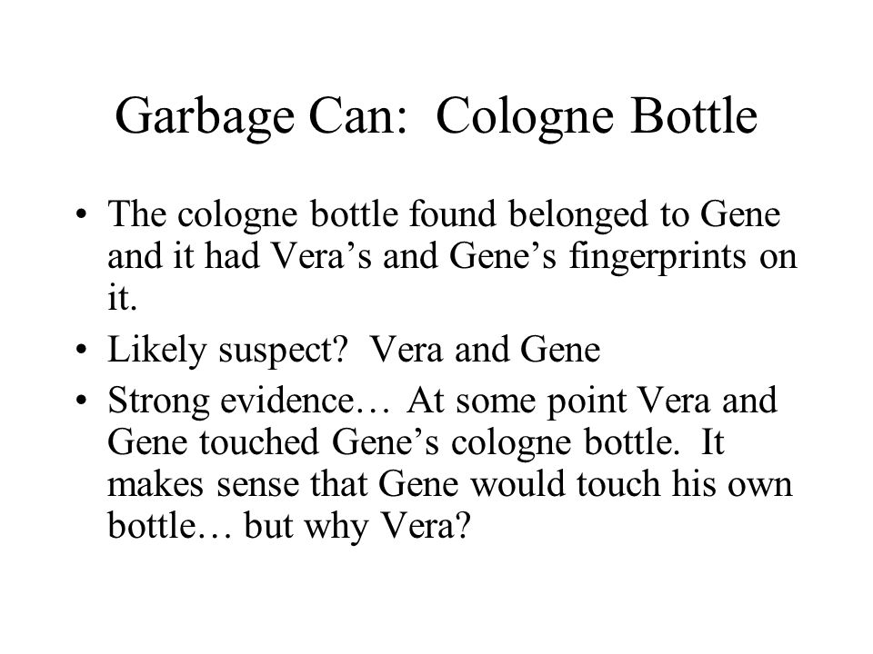 Garbage Can: Cologne Bottle