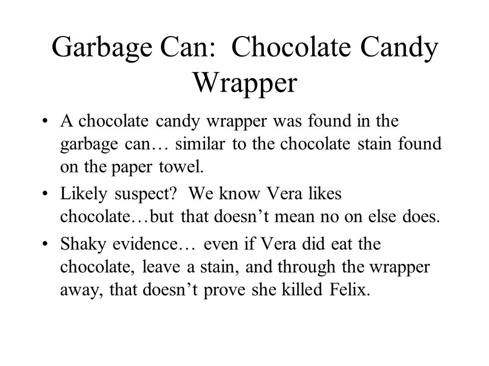 Garbage Can: Chocolate Candy Wrapper