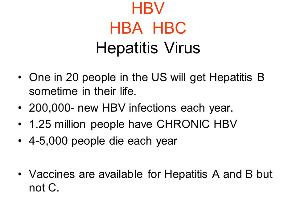 HBV HBA HBC Hepatitis Virus
